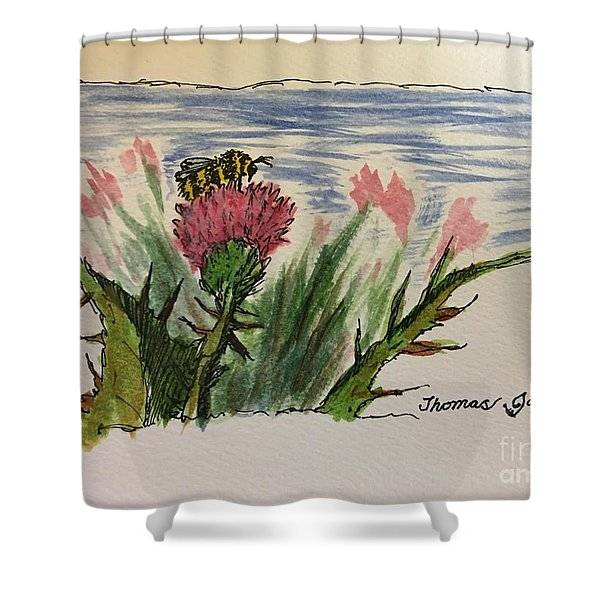Busy Bumblebee  Shower Curtain
