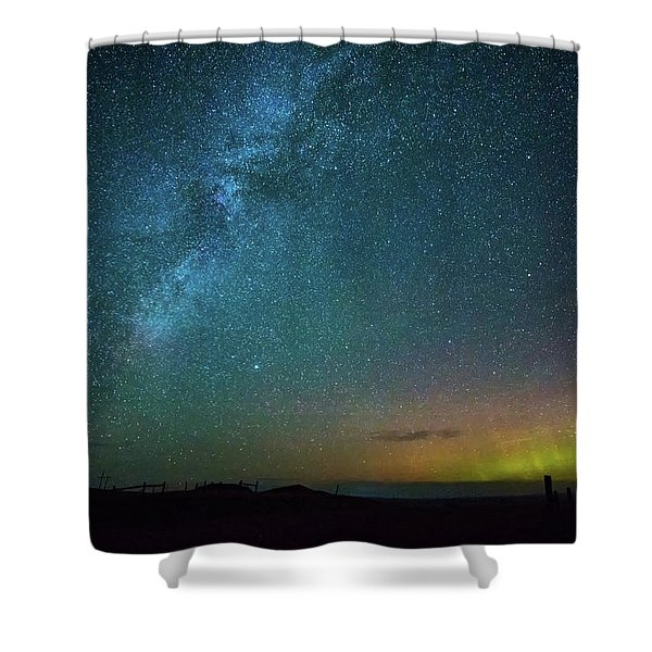 Busy Night Shower Curtain