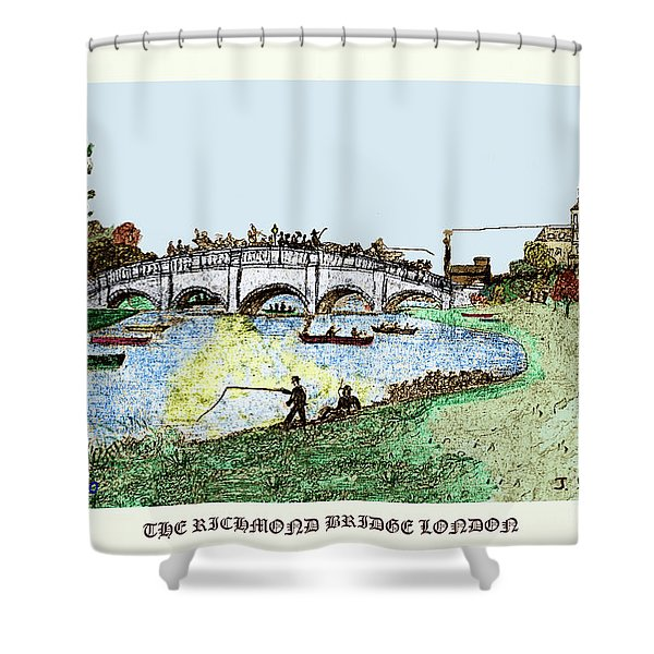 Busy Richmond Bridge Shower Curtain