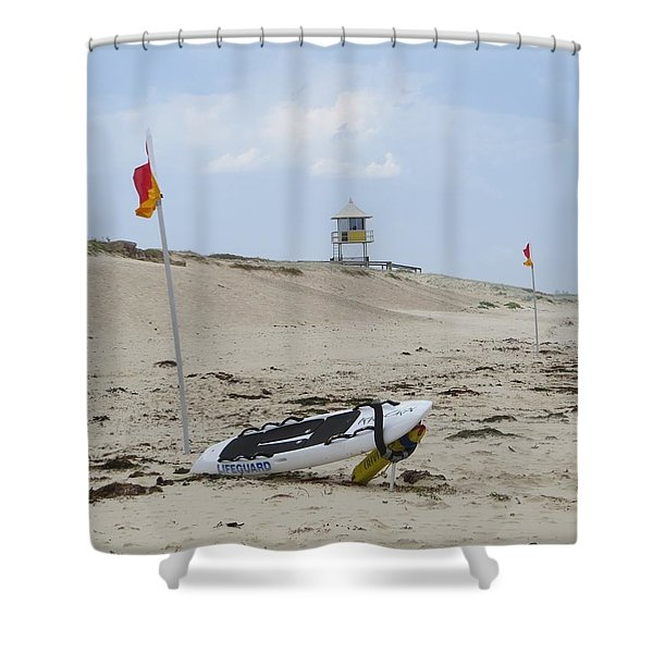 But The Beach Is Empty Shower Curtain