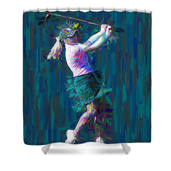 Buter University Golfer Painted Jp Shower Curtain