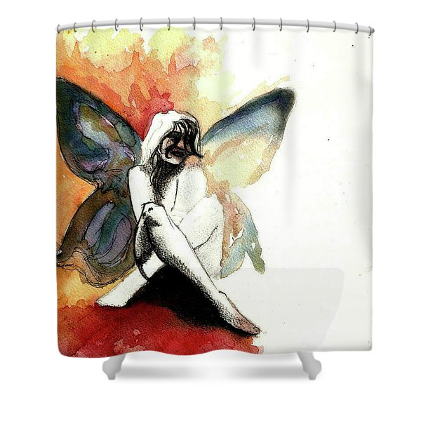 Butter Dreams Shower Curtain