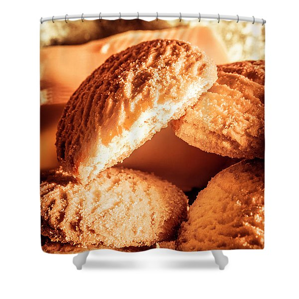 Butter Shortbread Biscuits Shower Curtain