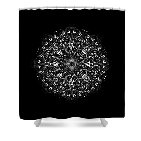 Butterflies And Grapes Inverted Shower Curtain