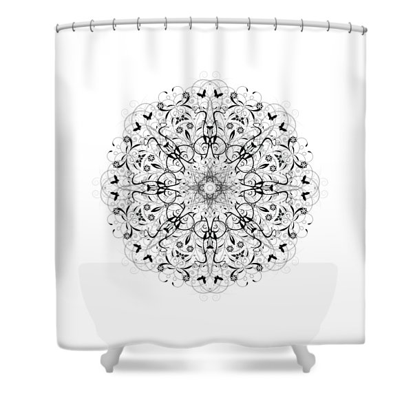 Butterflies And Grapes  Shower Curtain