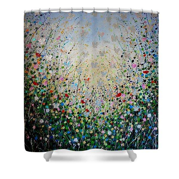 Butterflies- Large Work Shower Curtain