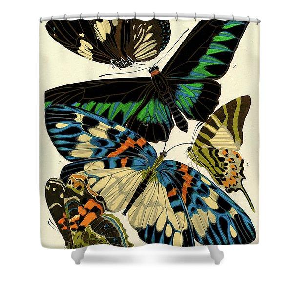 Butterflies, Plate-10 Shower Curtain