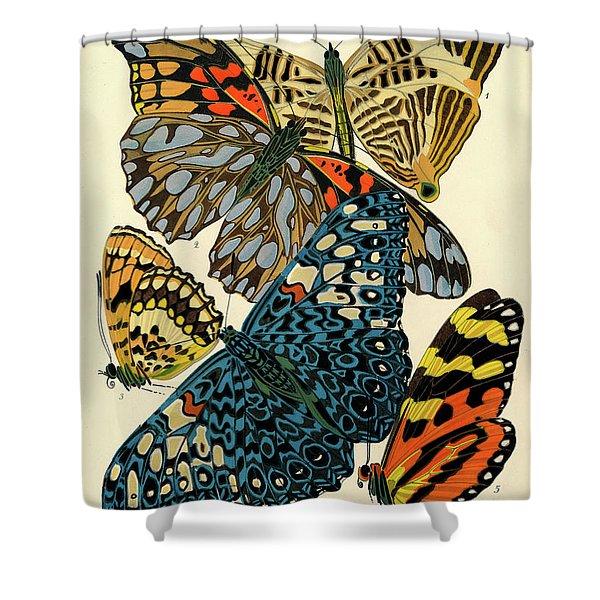 Butterflies, Plate-3  Shower Curtain