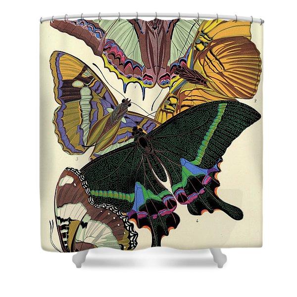 Butterflies, Plate-8  Shower Curtain