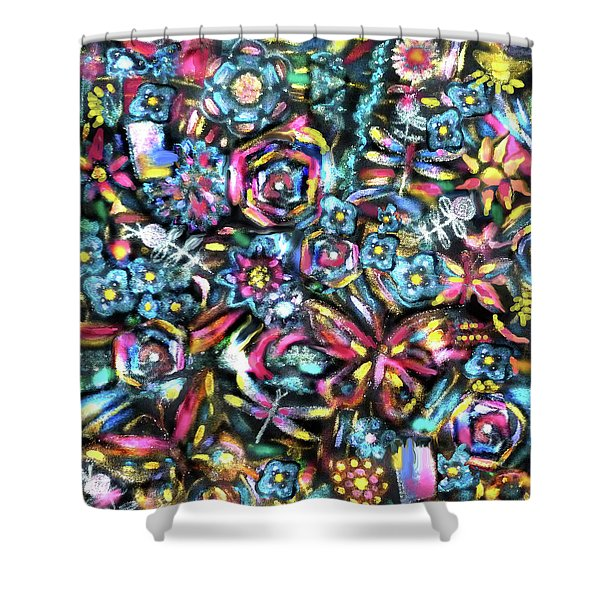 Butterfly And Roses Shower Curtain