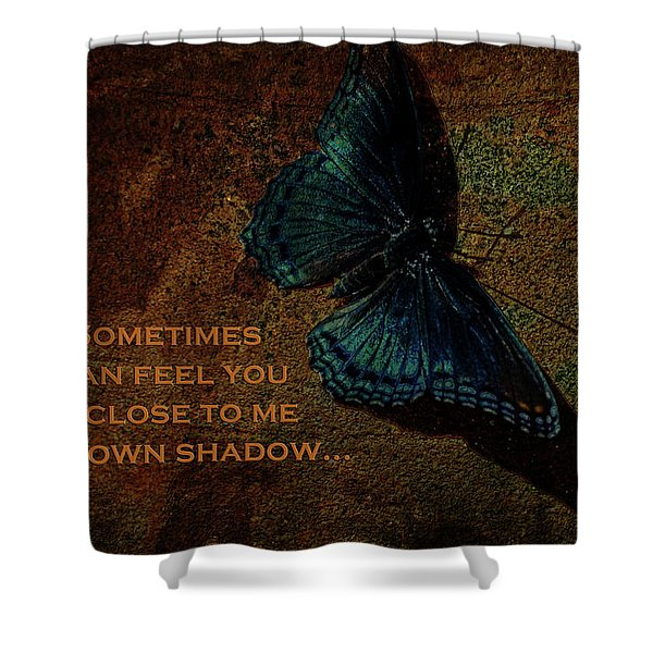 Butterfly Art Close To Me Card Shower Curtain