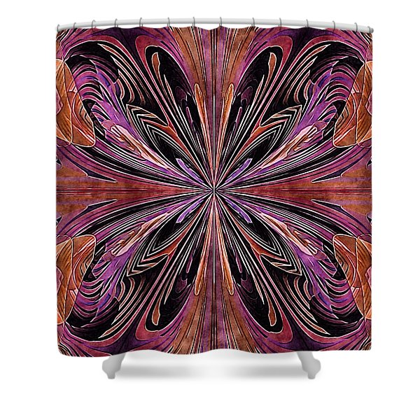 Butterfly Art Nouveau Shower Curtain