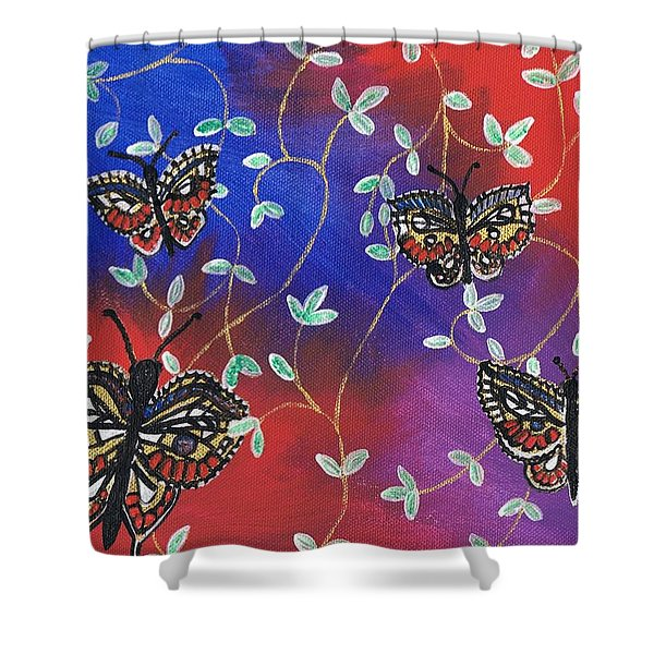 Butterfly Family Tree Shower Curtain
