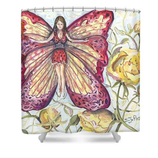 Butterfly Grace Fairy Shower Curtain