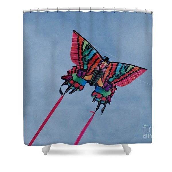 Butterfly Kite 2 Shower Curtain