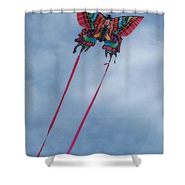 Butterfly Kite 3 Shower Curtain