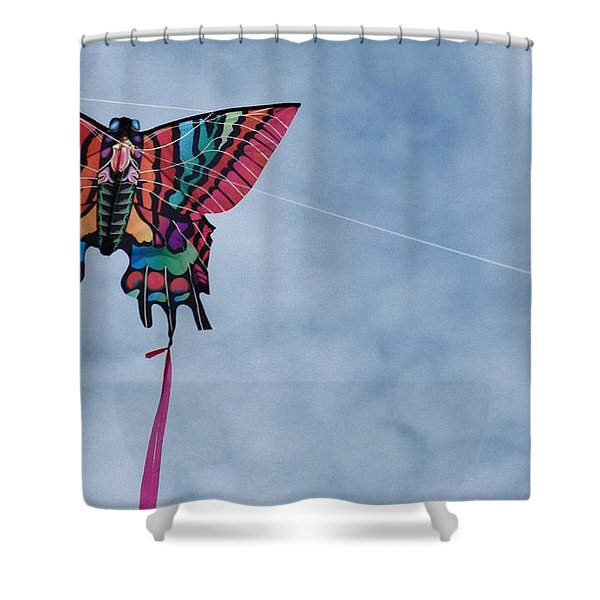 Butterfly Kite 5 Shower Curtain