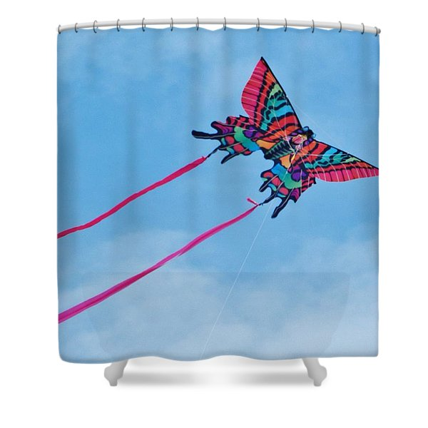 Butterfly Kite Shower Curtain