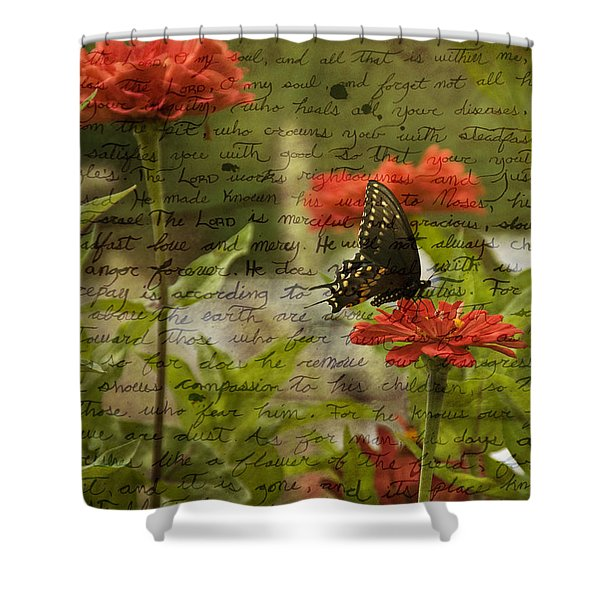 Butterfly Notes Shower Curtain