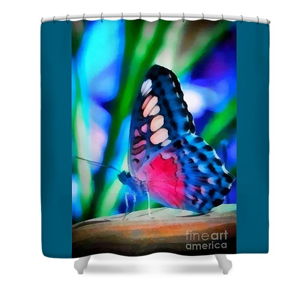Butterfly Realistic Painting Shower Curtain