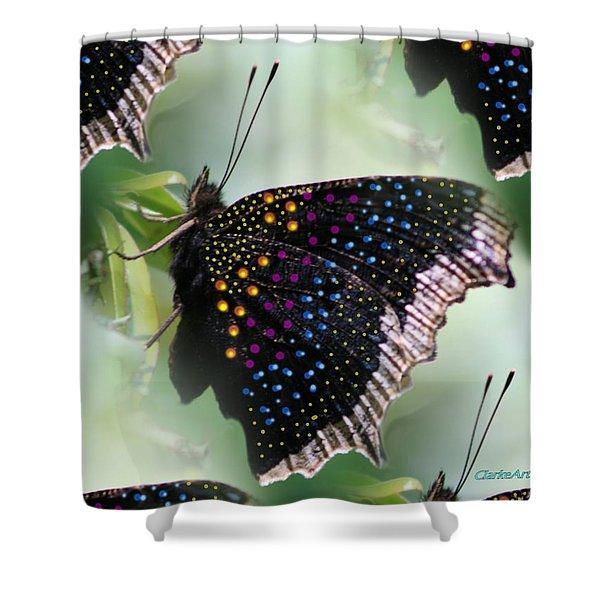 Butterfly Sunbath #2 Shower Curtain