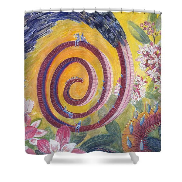 Butterfly's 'tongue' Shower Curtain