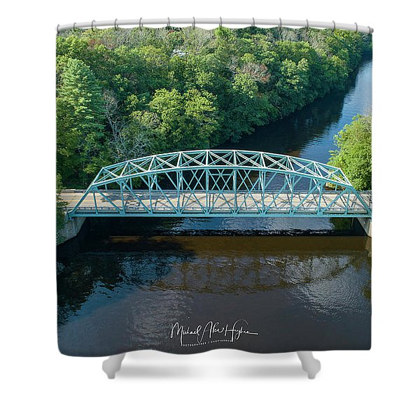 Butts Bridge Summertime Shower Curtain