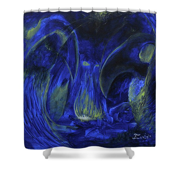 Buzzards Banquet Shower Curtain