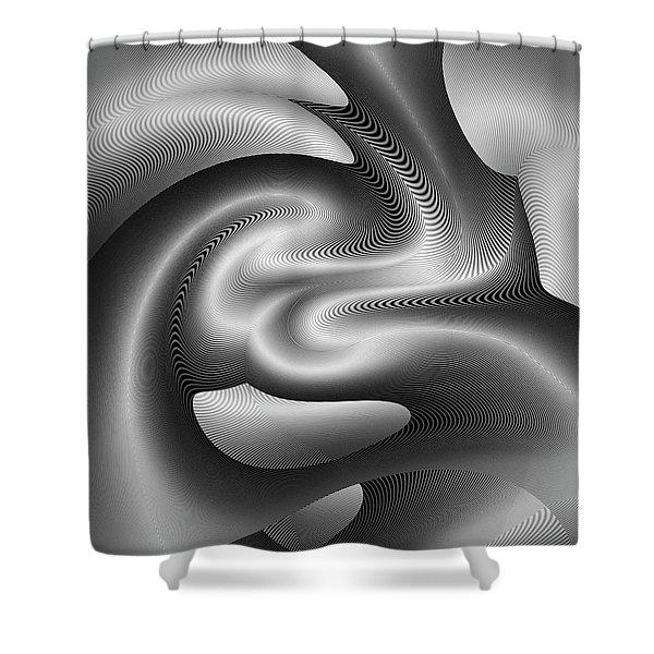 Shower Curtain featuring the digital art Bw 6 by Visual Artist Frank Bonilla