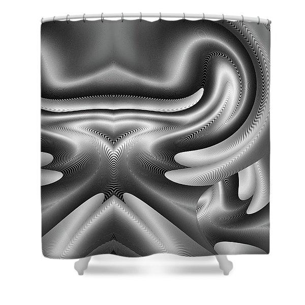 Shower Curtain featuring the digital art Bw Art 8 by Visual Artist Frank Bonilla