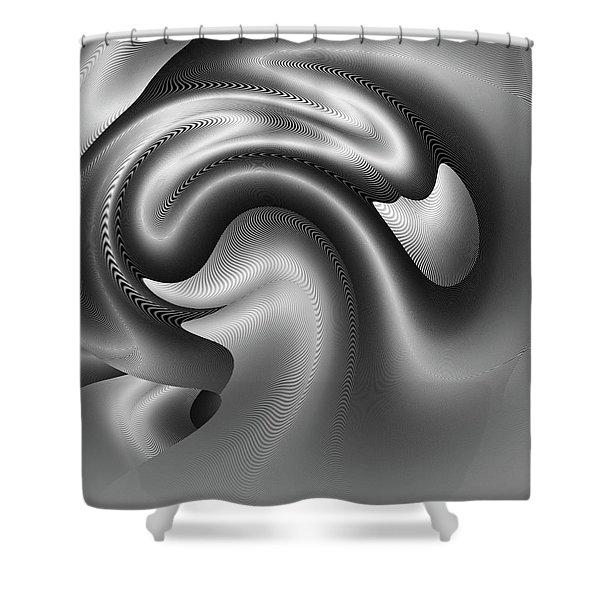 Shower Curtain featuring the digital art Bw Art 9 by Visual Artist Frank Bonilla