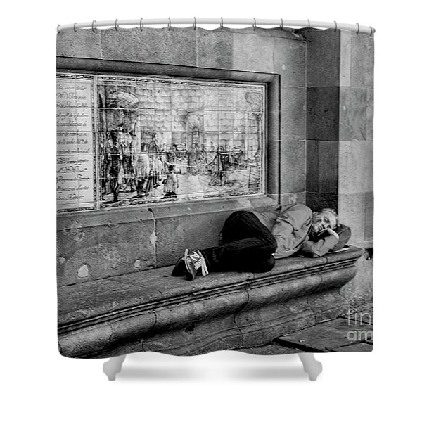 Bw La Rambia Nap Time  Shower Curtain