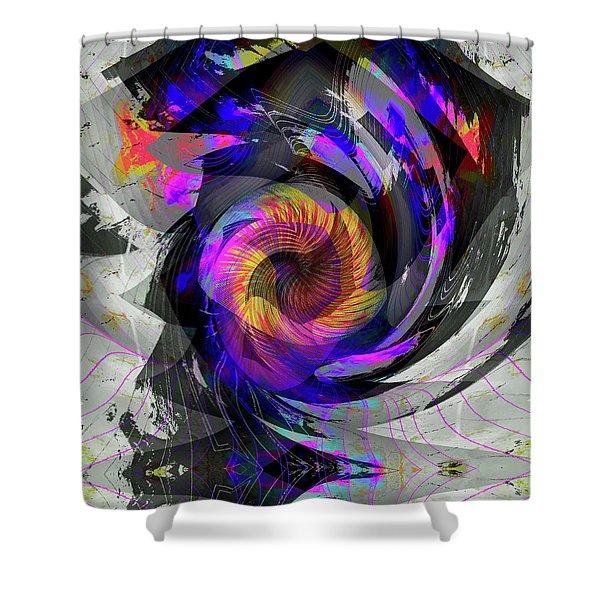 Shower Curtain featuring the digital art Bw Rose by Visual Artist Frank Bonilla