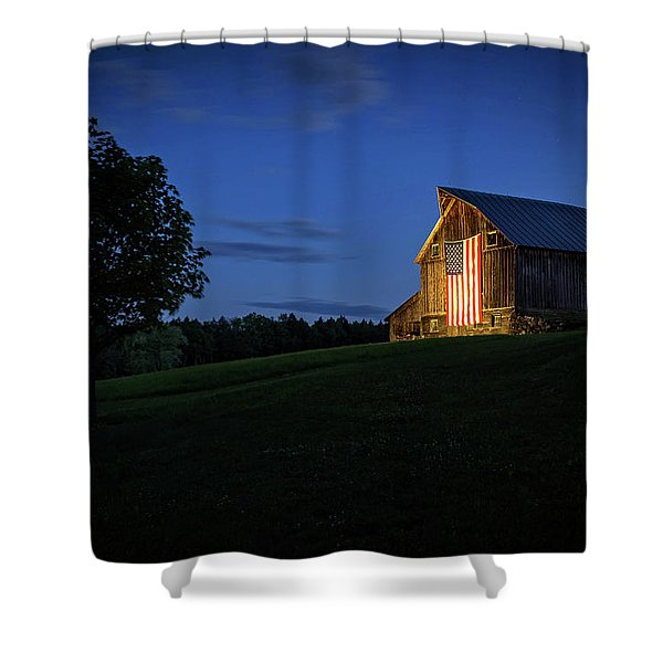 Old Glory By Dusks Early Light Shower Curtain