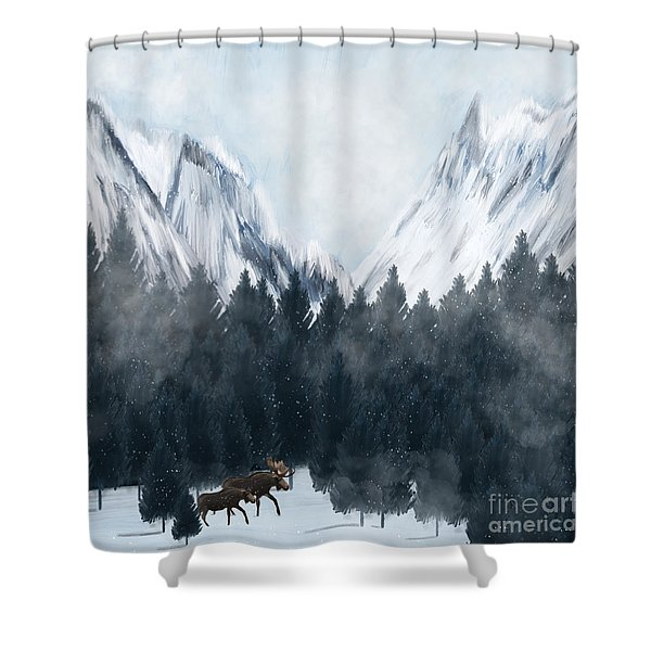 By My Side Shower Curtain