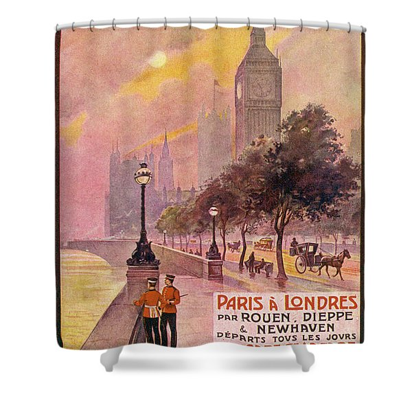 By Rail And Sea From Paris To Brighton Or London Poster Shower Curtain