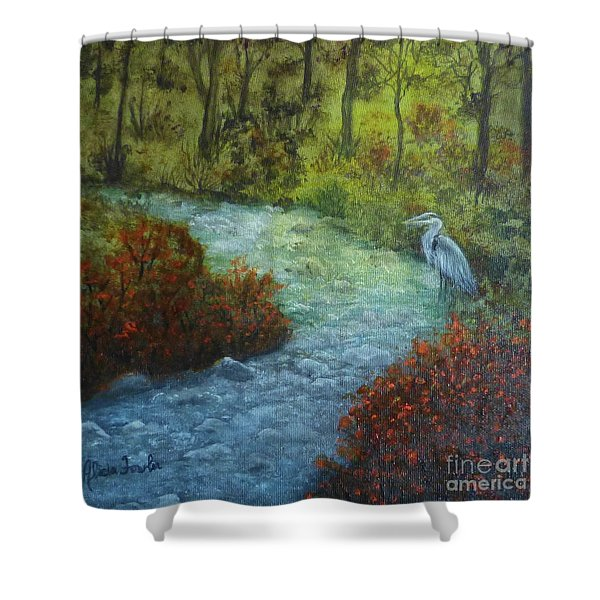 By The Brook Shower Curtain