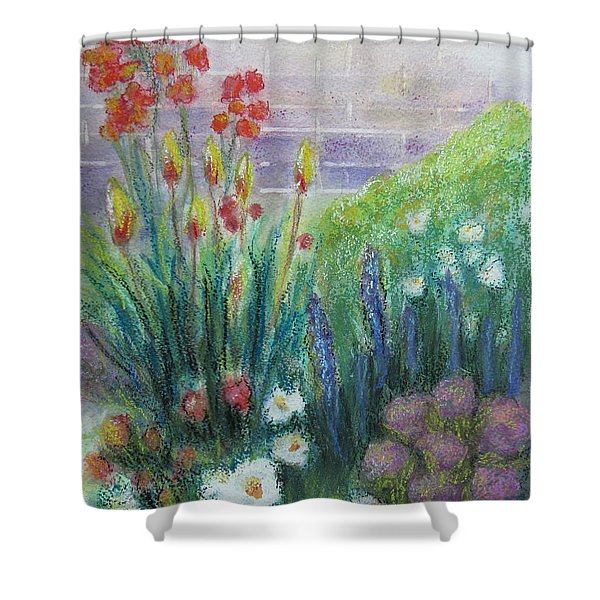 By The Garden Wall Shower Curtain