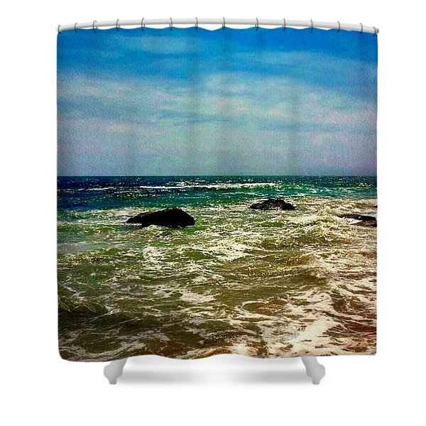 By The  Ocean  Shower Curtain