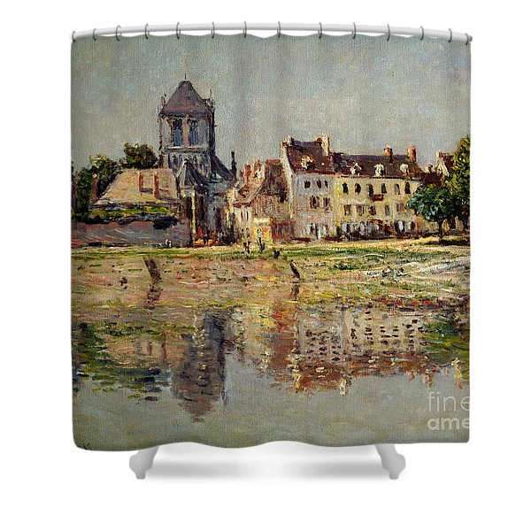 By The River At Vernon Shower Curtain