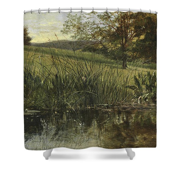 By The Riverbank, 1869 Shower Curtain