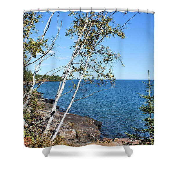 By The Shores Of Gitche Gumee Shower Curtain