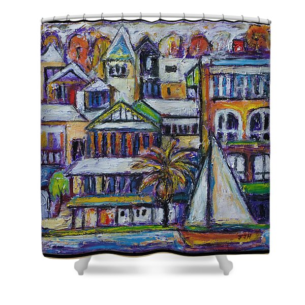 By The Water - Freo Shower Curtain