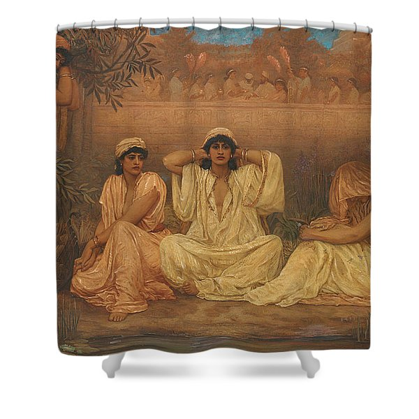 By The Waters Of Babylon They Sat Down And Wept Shower Curtain
