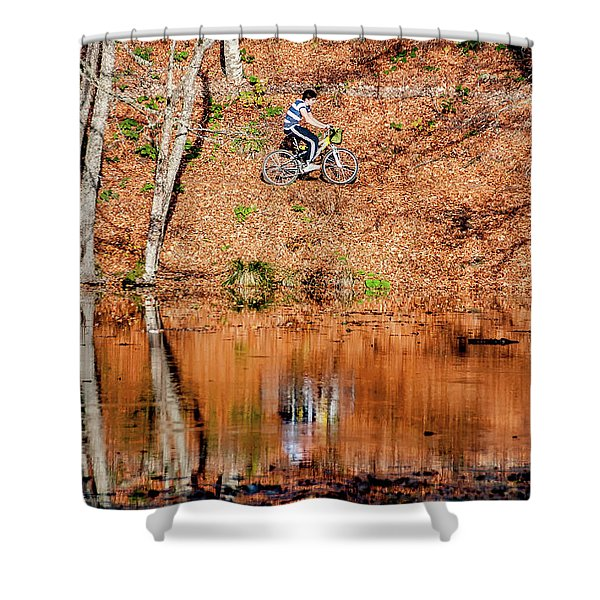 Bycyle Shower Curtain