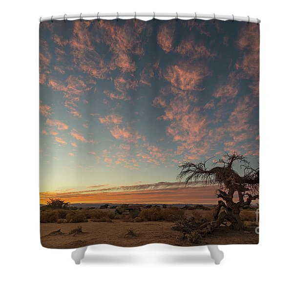 Bye Bye To Sunset Shower Curtain