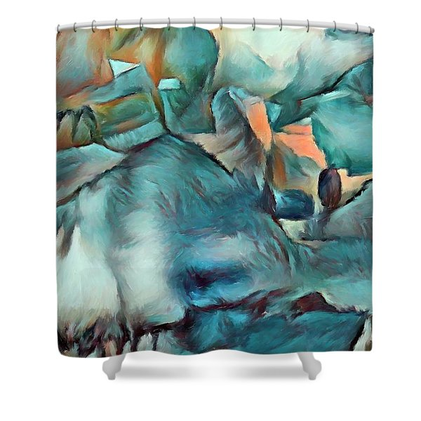 Byzantine Abstraction Shower Curtain
