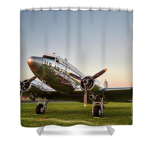 C-47 At Dusk Shower Curtain