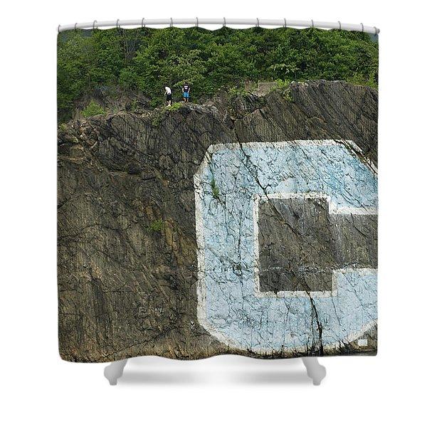 C Rock Of Columbia University Shower Curtain