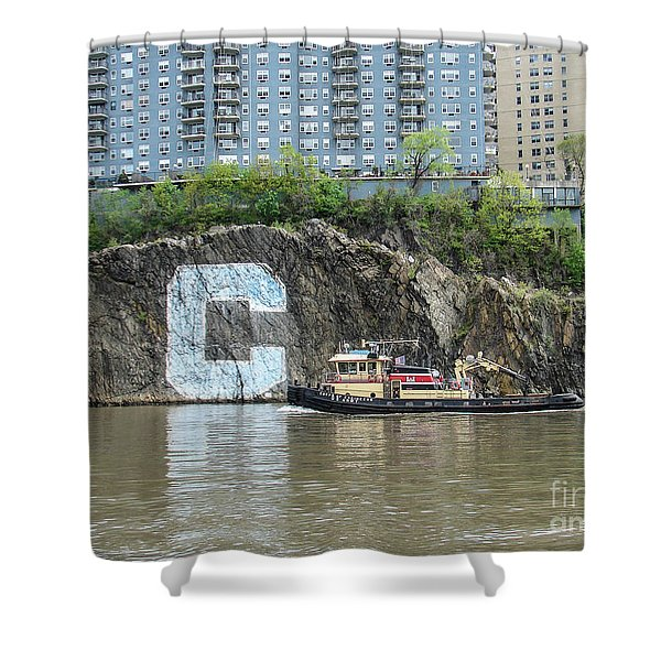 C Rock With Tug Shower Curtain